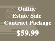 online estate sale contract package